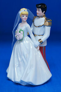 Cinderella Prince Charming Wedding Glass Figurine Cake Topper Disney Parks