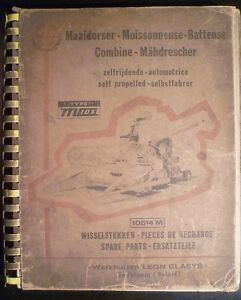 Claeys-Maehdrescher-M103-Ersatzteilliste