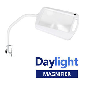 Clamp on clip on daylight led craft reading magnifier for Clip lights for crafts