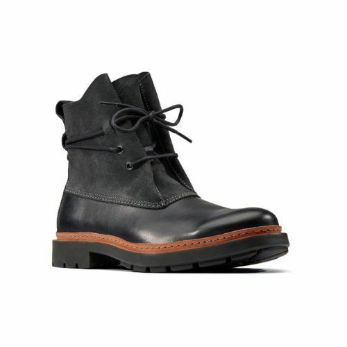 Clarks Trace Dusk Black Leather Men's Boots UK Size 8 1/2 D