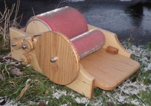 Classic-Drum-Carder-in-Solid-Ash-for-spinning-felting