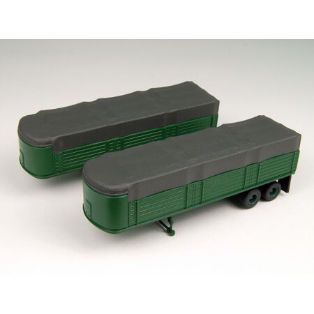 Classic Metal Works 31132 HO-Scale 32' Covered Trailers (2) Green New in Toys & Hobbies, Model Railroads & Trains, HO Scale | eBay