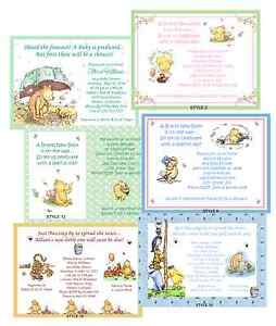 Classic Pooh Baby Shower Invitations | eBay