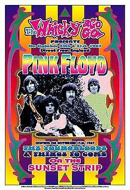 Pink Floyd at The Whisky A Go Go L A Concert Poster Circa 1967
