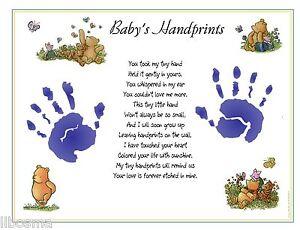 ... Winnie The Pooh Baby 1st Handprints© Poem Print Keepsake   eBay