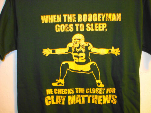 Clay Matthews Boogeyman Green Bay Packers T-shirt Sizes S-6XL Green & Gold in Sports Mem, Cards & Fan Shop, Fan Apparel & Souvenirs, Football-NFL | eBay