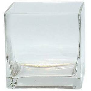 Clear Square Glass Vase Cube 4 Inch 4 Quot X 4 Quot X 4