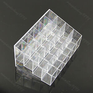Clear-Trapezoid-Lipstick-Makeup-Display-Holder-Case-Cosmetic-Organizer-24-Stand