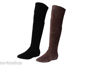 clearance leather suede knee high boots jania size 5