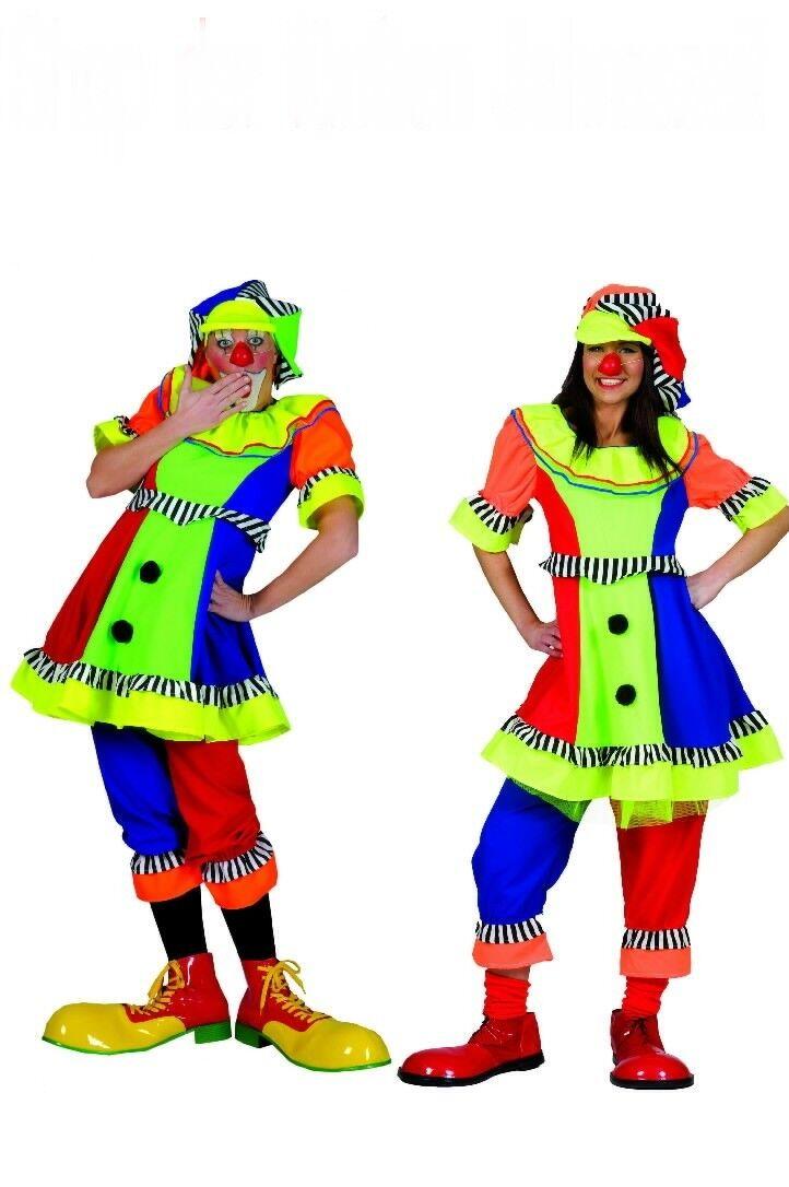 clown damen od herren kost m clownskost m m m tze zirkus. Black Bedroom Furniture Sets. Home Design Ideas