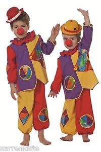 clown harlekin kost m zirkus kasper clownkost m karneval baby kleinkinder kinder ebay. Black Bedroom Furniture Sets. Home Design Ideas