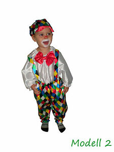 clown kost m clownkost m kinder zirkus karneval fasching 3 modelle. Black Bedroom Furniture Sets. Home Design Ideas