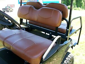 club car ds 39 00 up golf cart front seat replacement custom covers set brwn ebay. Black Bedroom Furniture Sets. Home Design Ideas