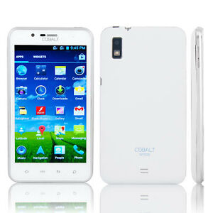 "Cobalt SP500 White 5"" Capacitive Touch Screen Android 4.0 Cell Phone"