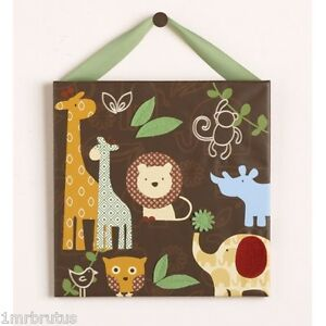 Cocalo Noah Friends Wall Art Baby Boy Nursery Decor Noahs Ark Animals