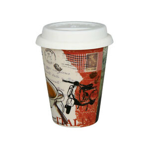 coffee to go becher mit deckel k nitz porzellan italien italia italy 380ml ebay. Black Bedroom Furniture Sets. Home Design Ideas