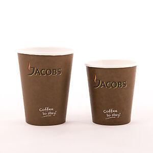 coffee to go becher jacobs kaffee 0 2l 0 3 l pappbecher 100 st ck ebay. Black Bedroom Furniture Sets. Home Design Ideas