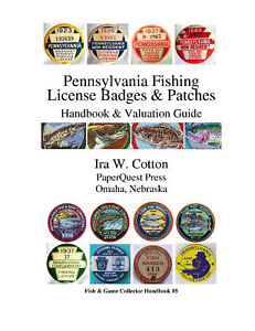 Pennsylvania Fishing License on Collector Handbook Pennsylvania Fishing License Badges Patches   Ebay