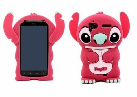 Colorful 3D Cute Stitch Soft Silicone Cover Case 4 HTC Sensation 4G G14 G18