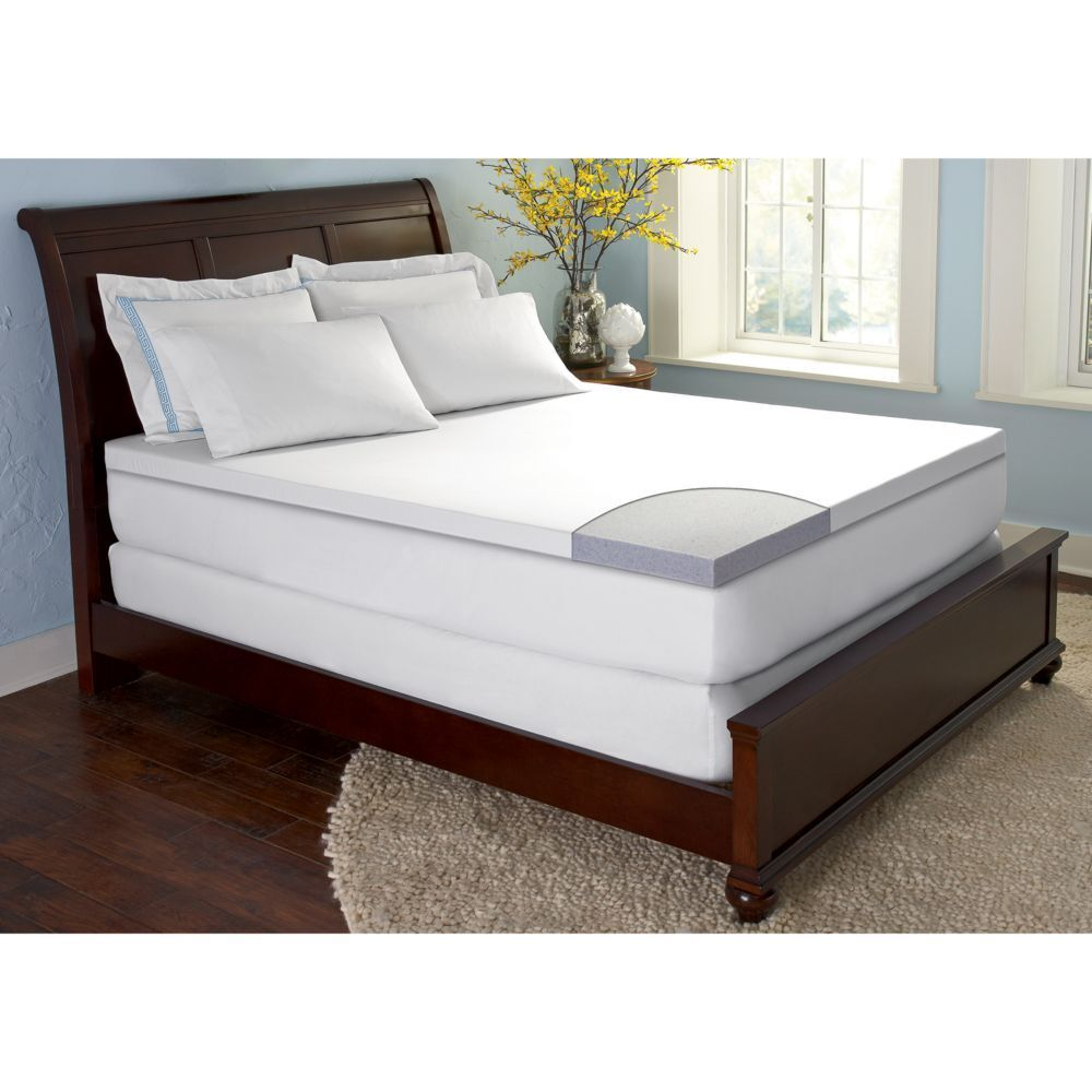 Comforzen Gelfuse Gel Memory Foam 2 5 Mattress Topper Pad Twin Full Queen King