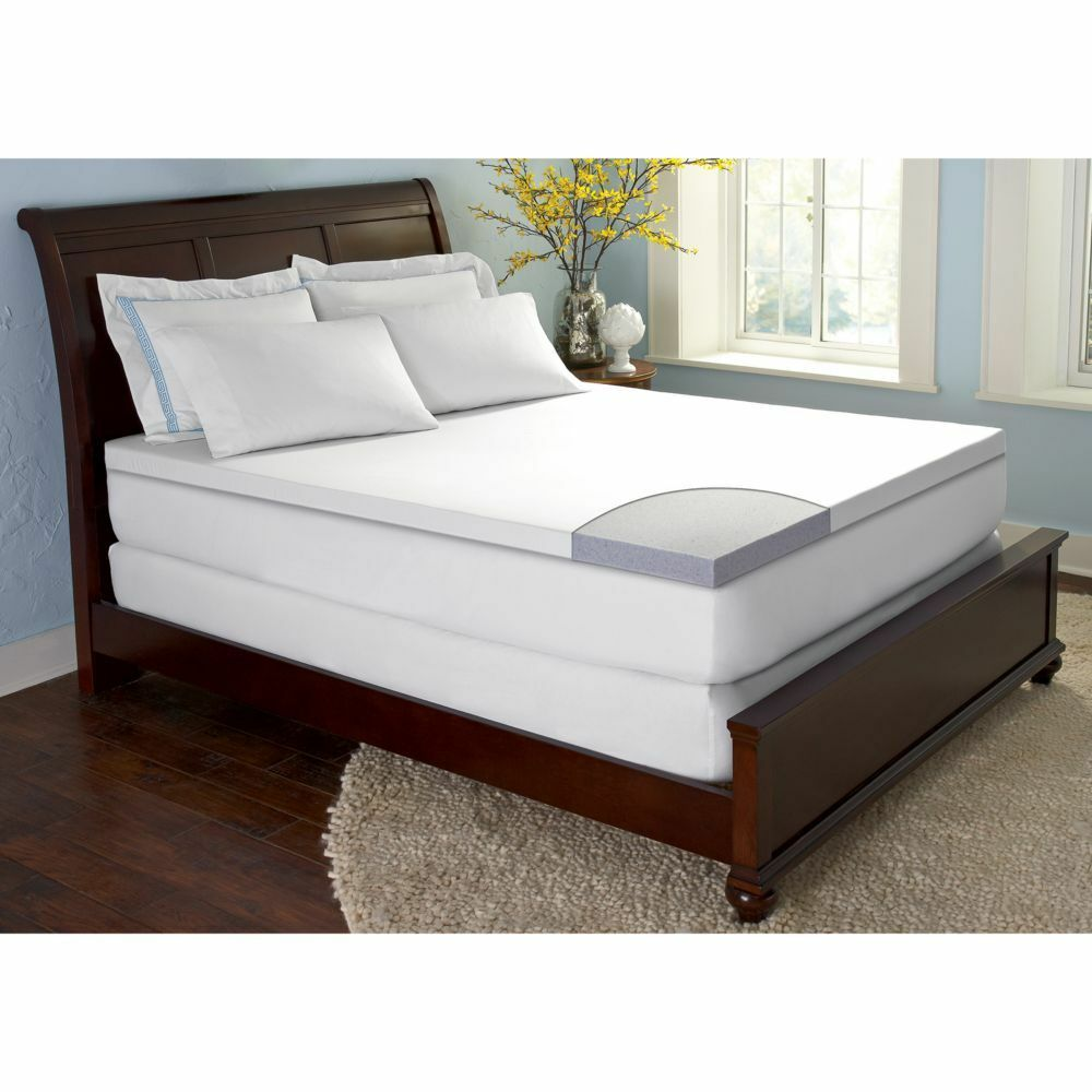 comforzen gelfuse gel memory foam 2 5 mattress topper pad twin full queen king. Black Bedroom Furniture Sets. Home Design Ideas