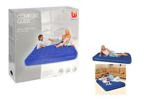 Comfort Quest Easy Inflate Flocked Air Bed Double