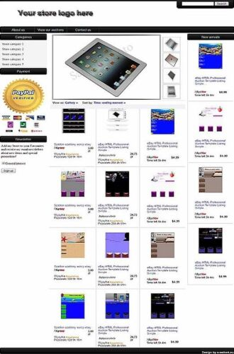 Complete eBay Store Front Design+Matching Auction Listing Template (Black) in Everything Else, eBay User Tools | eBay