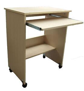 computertisch pc tisch computerwagen auf rollen ahorn. Black Bedroom Furniture Sets. Home Design Ideas