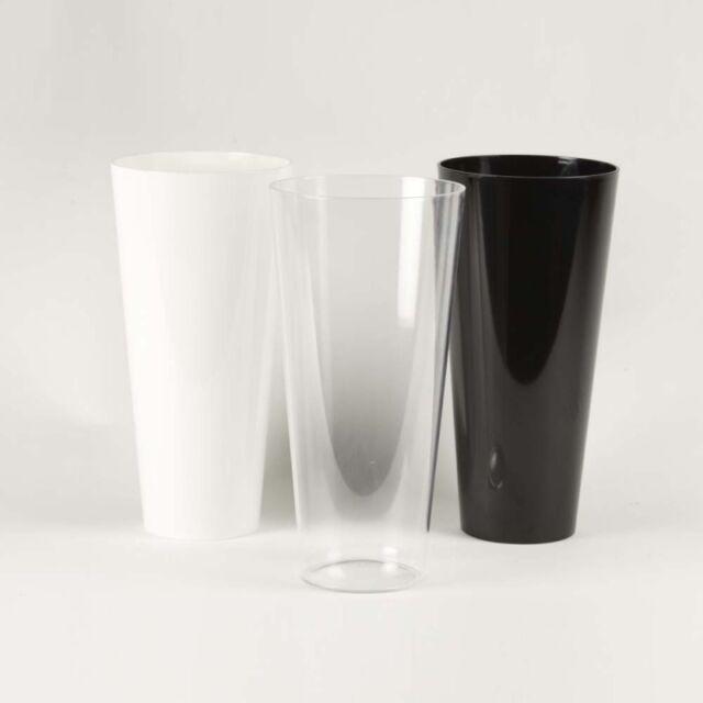 Coloured Acrylic Handtied Vase Durable Hardwearing Plastic Glass Alternative