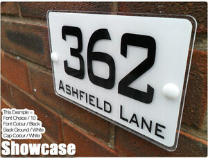 House Name Plates: Metal Number & Letter Plaques & House Name Sign