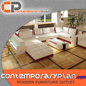 Living Room Table Sets on Contemporary Living Room Sectional Sofa Set With Table And Ottoman