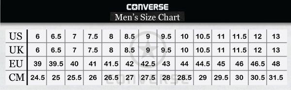 converse all star size chart