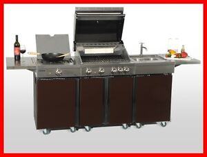 coobinox royal design 4 brenner gasgrill bbq wok sp ltisch griller au enk che ebay. Black Bedroom Furniture Sets. Home Design Ideas