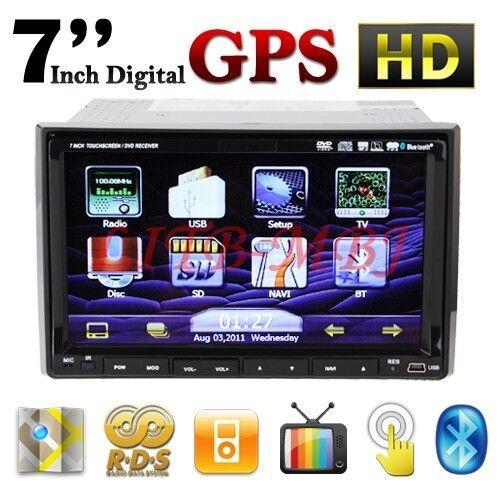 Cool 7 Double DIN Indash Car DVD Player GPS Navigation iPod TV