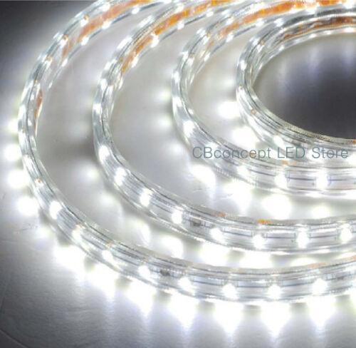 Cool White 120V High Power SMD5050 Flexible Flat LED Strip Rope Light-Custom Cut in Home & Garden, Lamps, Lighting & Ceiling Fans, String Lights, Fairy Lights | eBay