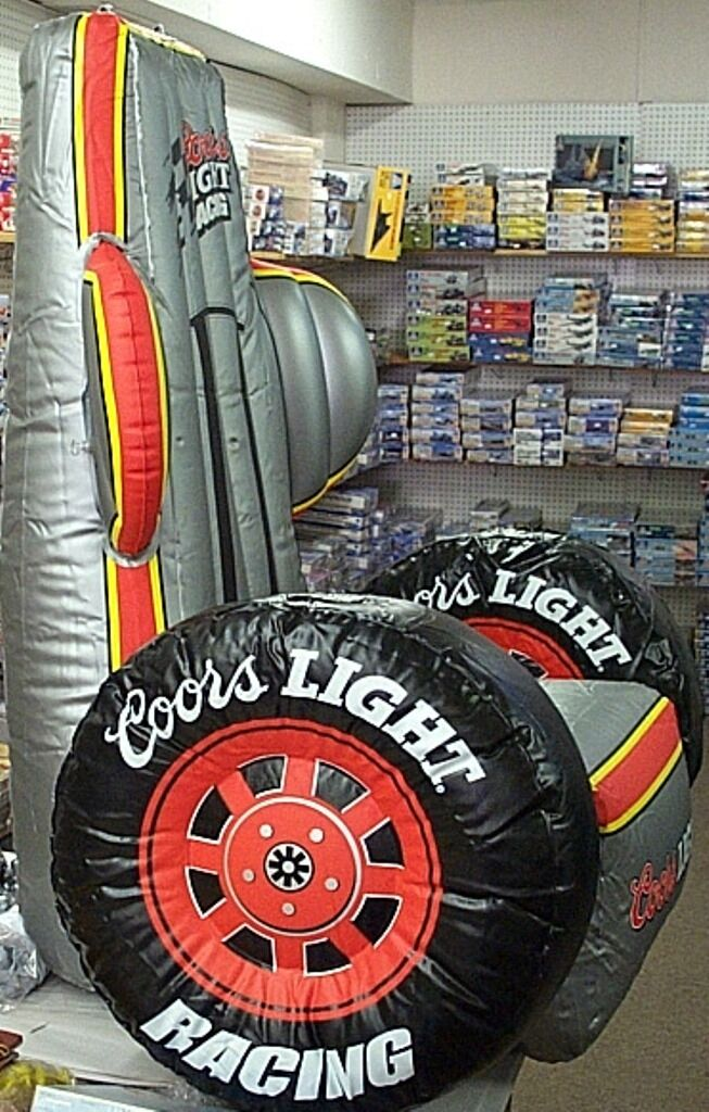 Coors Light Beer Inflatable Racing Chair Man Cave Decoration Hanging Sign RARE