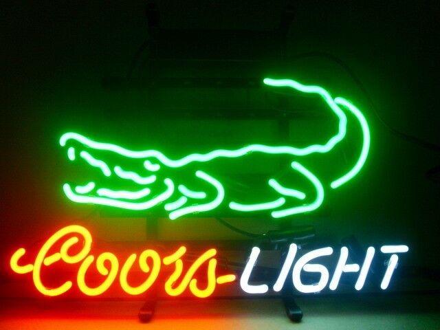 Coors Light Crocodile Logo Beer Bar Pub Neon Sign M45