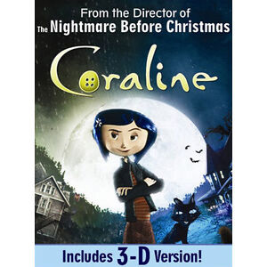 Coraline (DVD, 2009, Includes 3-D versio...