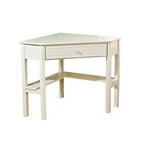 corner desk antique white writing homework table dorm