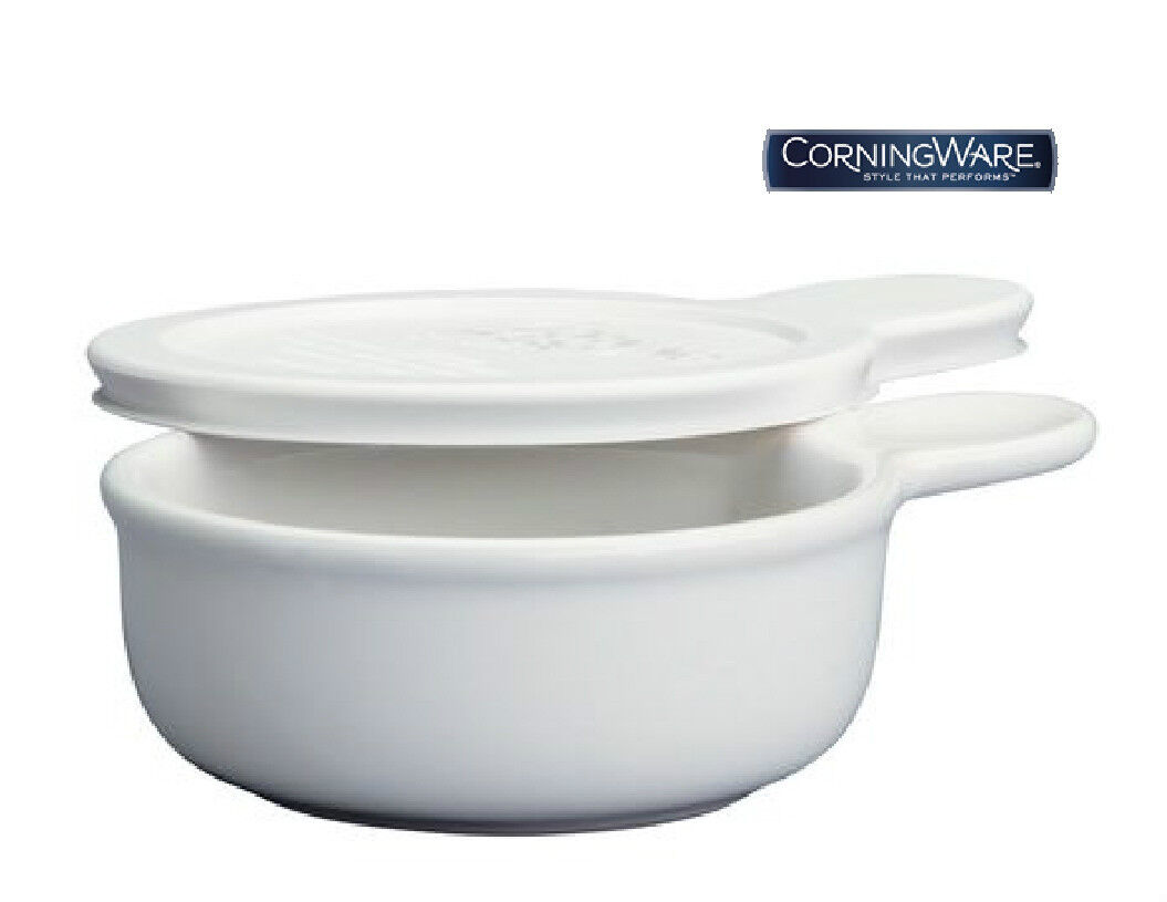 CorningWare French White 15-Ounce Grab-It Dish with Cover