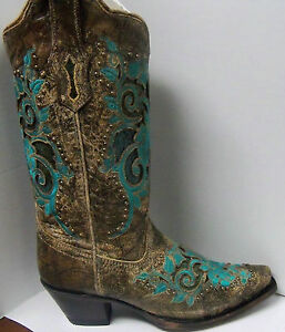 Corral Turquoise Cowgirl Boots
