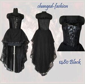 Corset wedding dress gothic black halloween custom made us for Halloween wedding dresses plus size