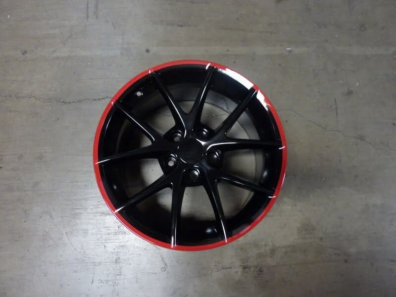 Corvette C6 Z06 Spyders Black Red Stripe Wheels rims for C5 or C6