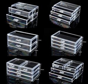 Cosmetic Organizer Acrylic Makeup Case Drawers Box Jewelry ...