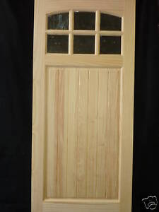 Wood Entry Doors on Cottage Wood Entry Door 6 Lite Arch Beadboard Panel   Ebay