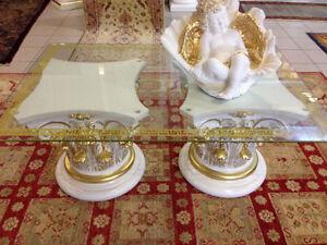 couchtisch glastisch s ulen griechische tische medusa barock stuckgips 6022 141m ebay. Black Bedroom Furniture Sets. Home Design Ideas