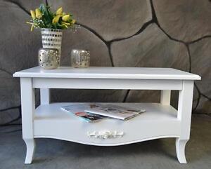 Details zu Couchtisch Tisch Landhaus Shabby Vintage antik Weiß SP52