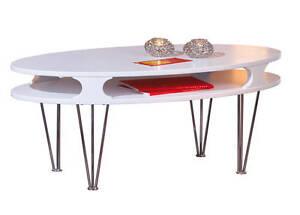 couchtisch wei matt glastisch wohnzimmertisch wohnzimmer tisch oval modern neu ebay. Black Bedroom Furniture Sets. Home Design Ideas
