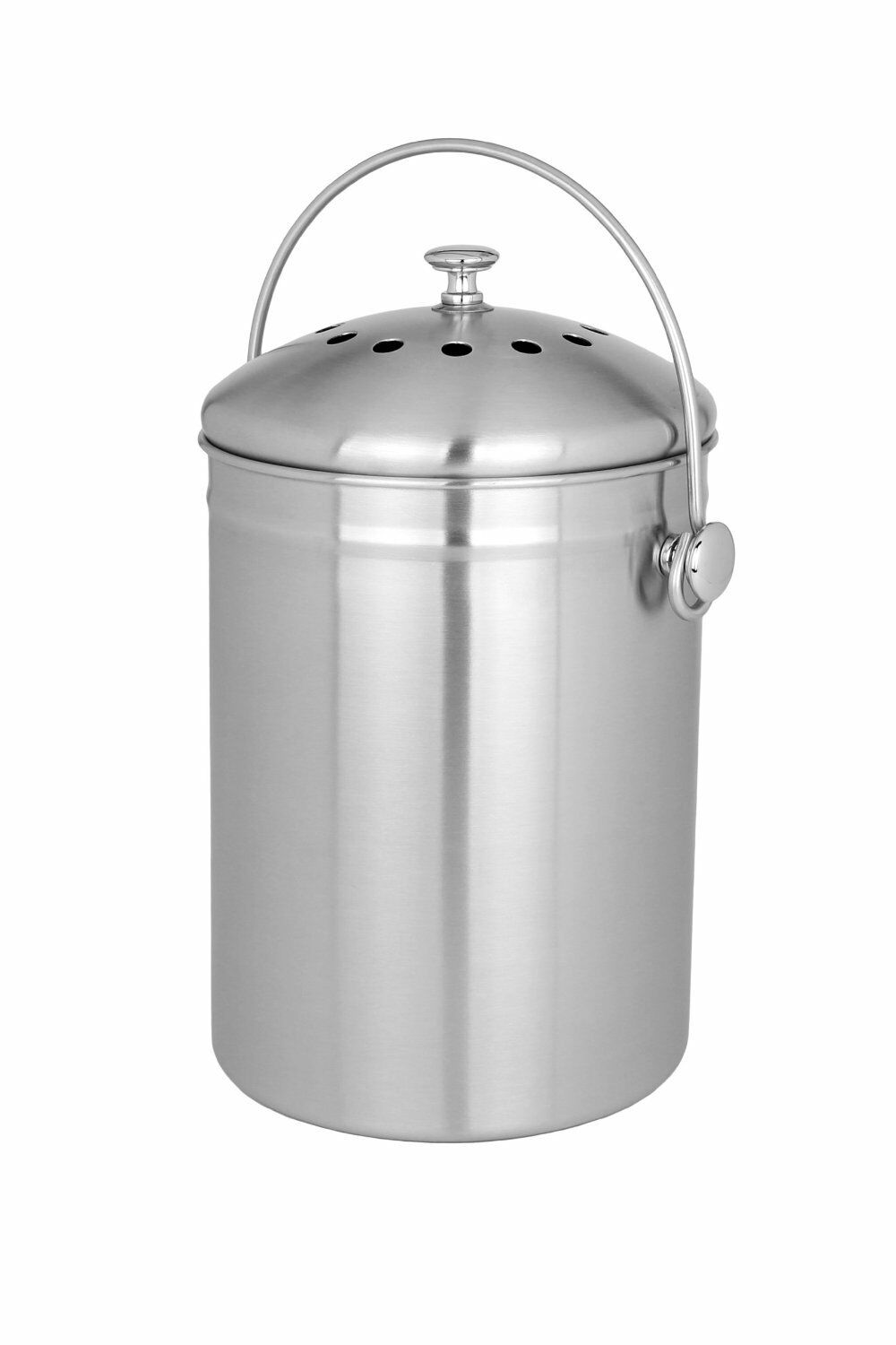 countertop kitchen compost bin 1 gallon stylish stainless steel