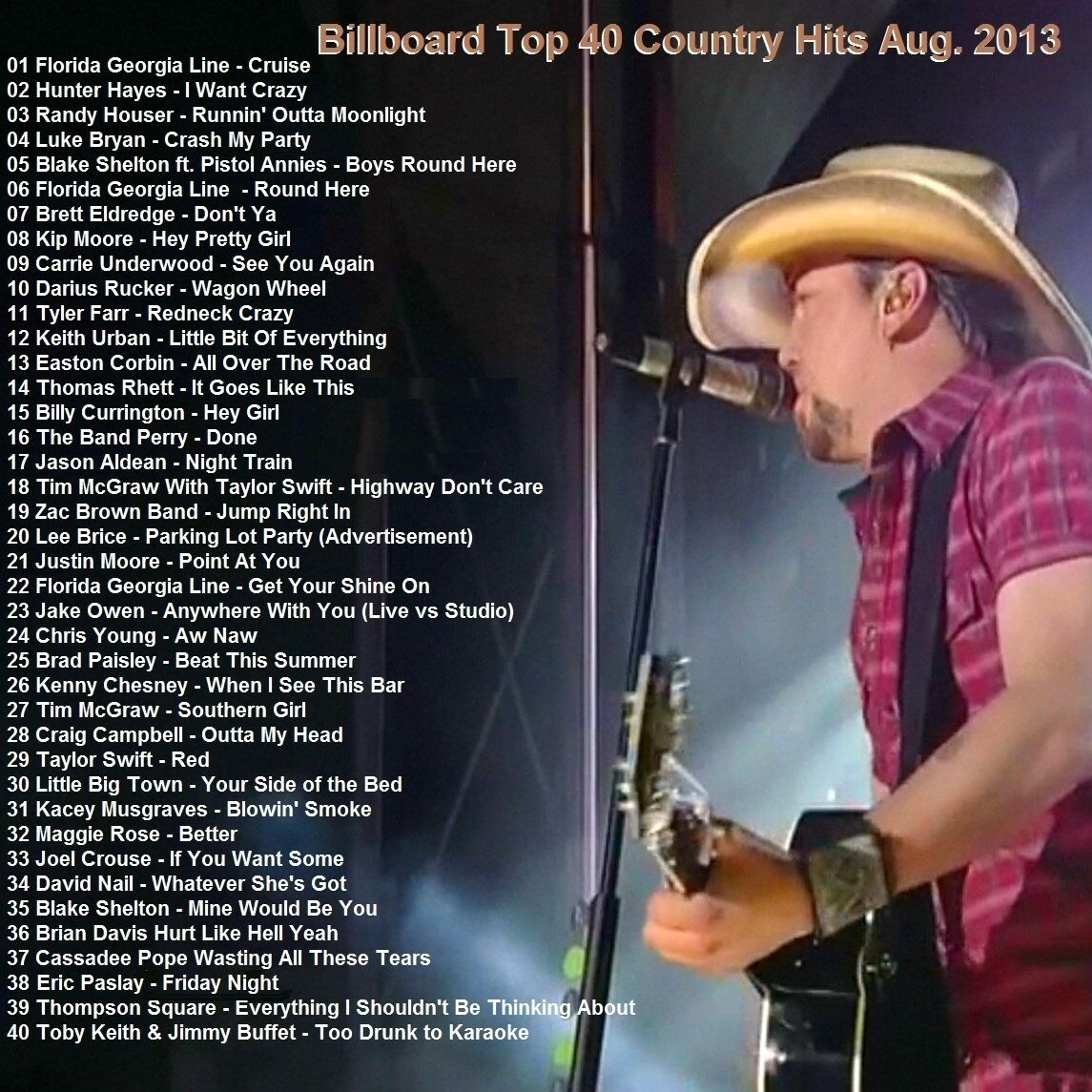 top ten country hits of 2013
